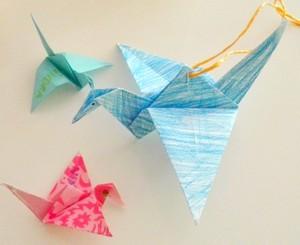 origami ptáčci